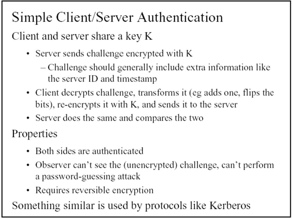 AUTHONTICATION  User Authentication §Use of Passwords §Attacks on