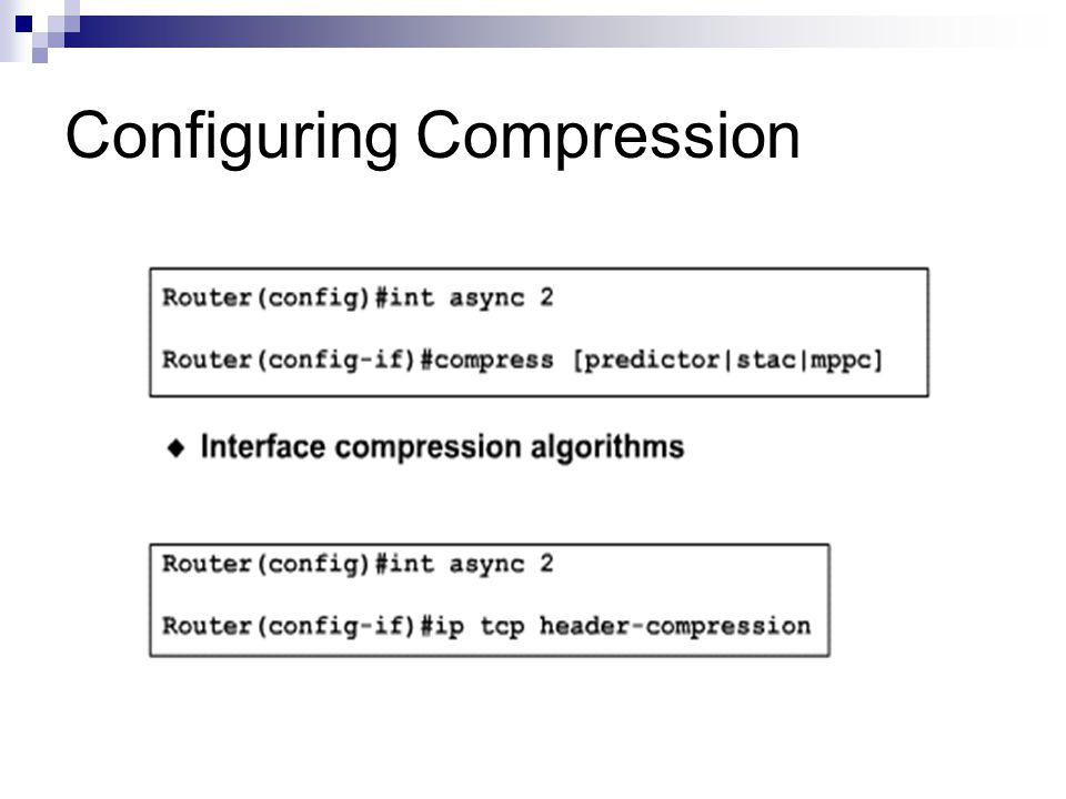 Configuring Compression