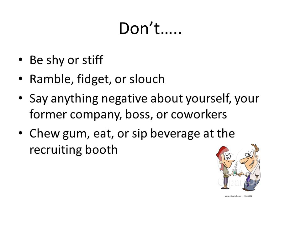 Don't…..