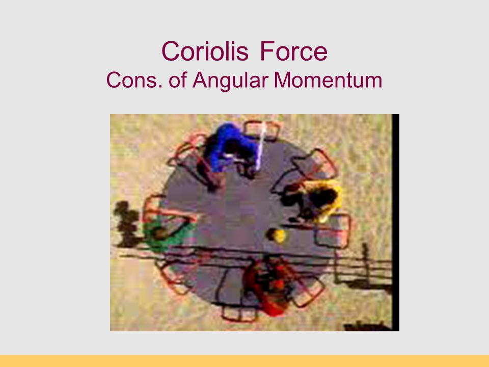 Coriolis Force Cons. of Angular Momentum