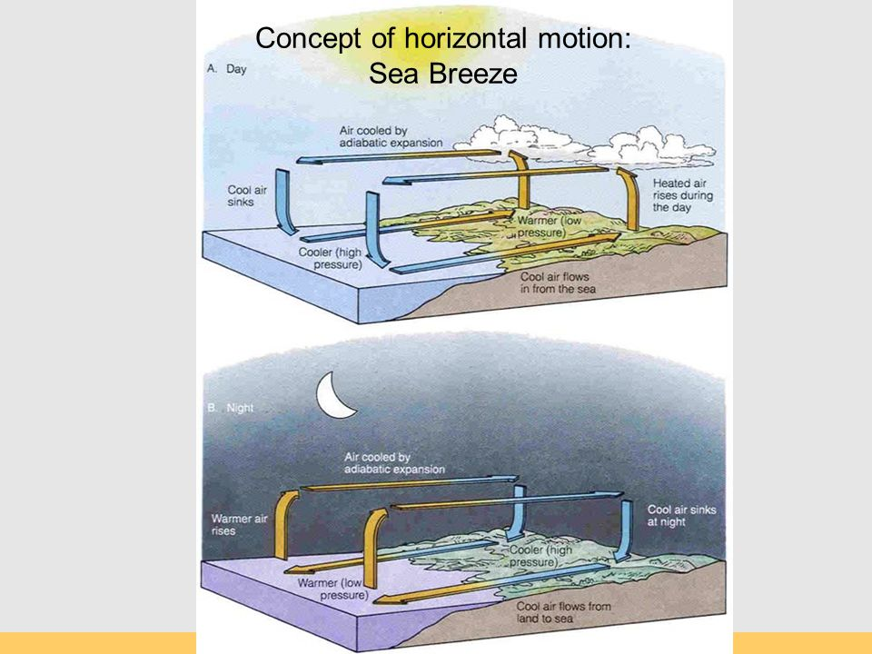 Concept of horizontal motion: Sea Breeze