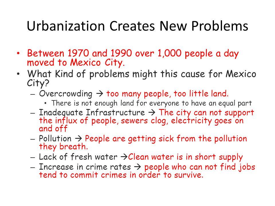 urbanization in a sentence
