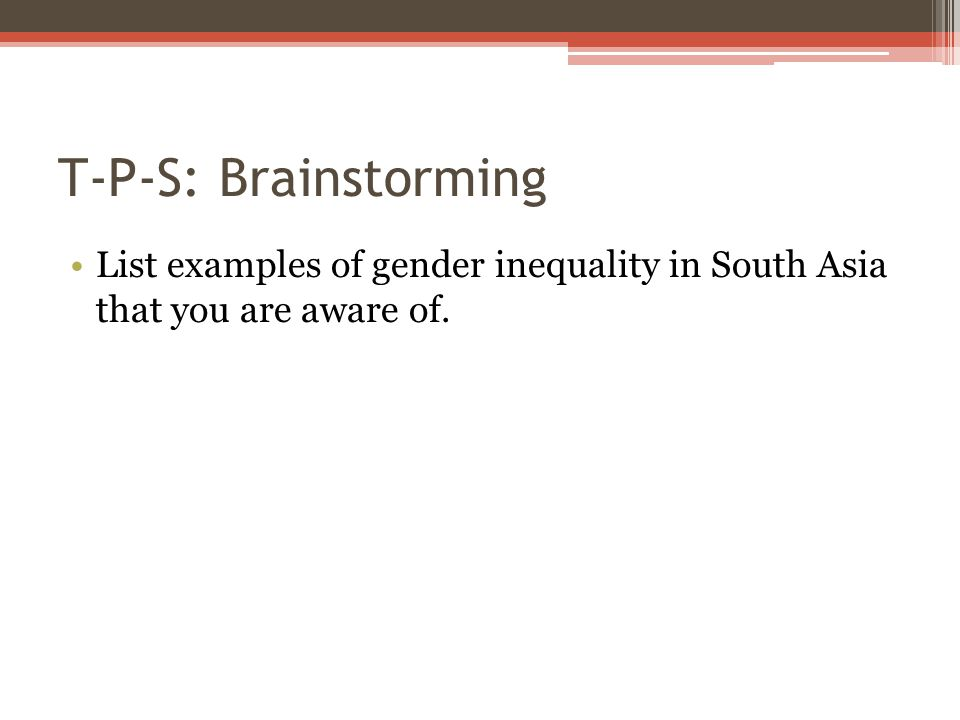 gender inequality examples in india