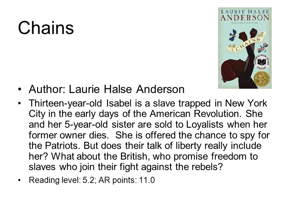 themes in chains by laurie halse anderson