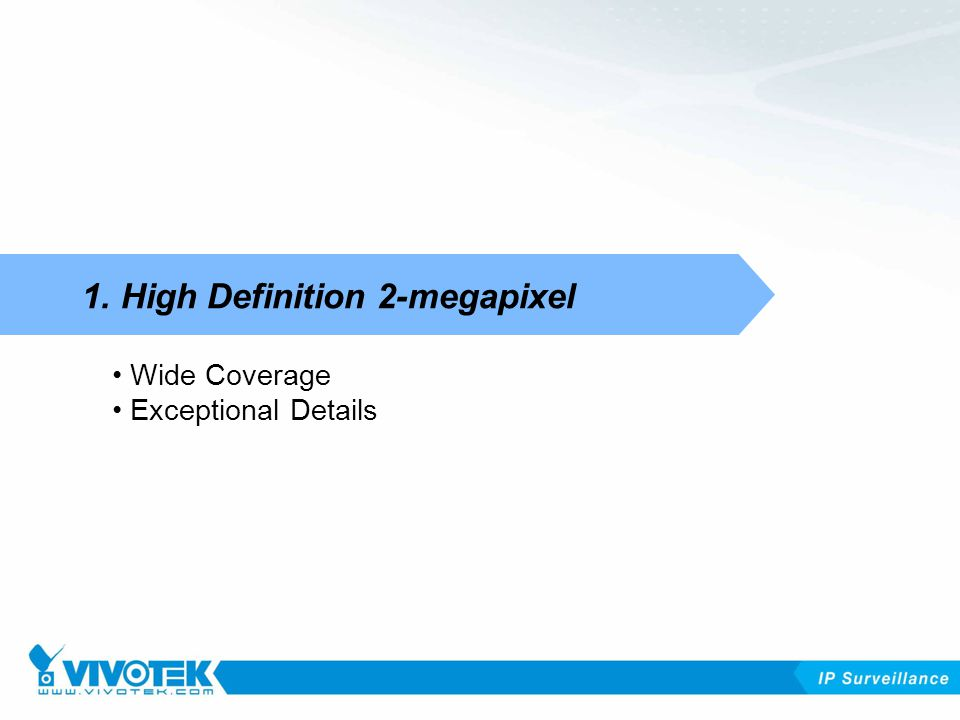 1. High Definition 2-megapixel Wide Coverage Exceptional Details