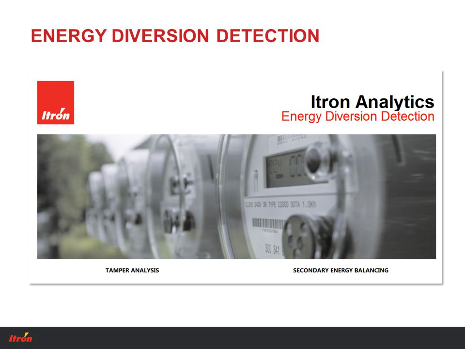 ENERGY DIVERSION DETECTION