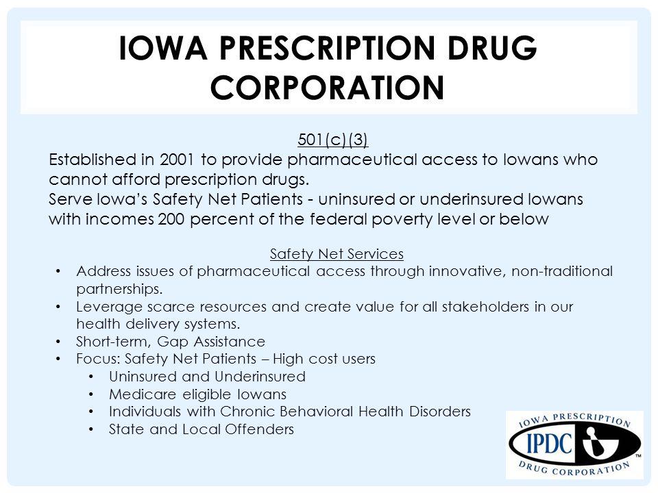 Pharmaceutical Safety Net Programs Jon Rosmann, Executive