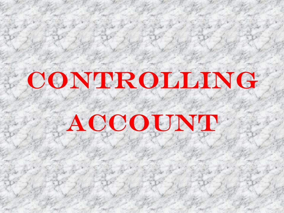 Controlling Account