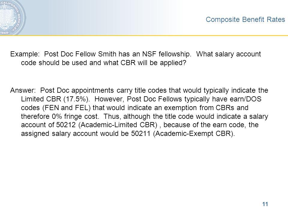 University of California, Berkeley Composite Benefit Rates