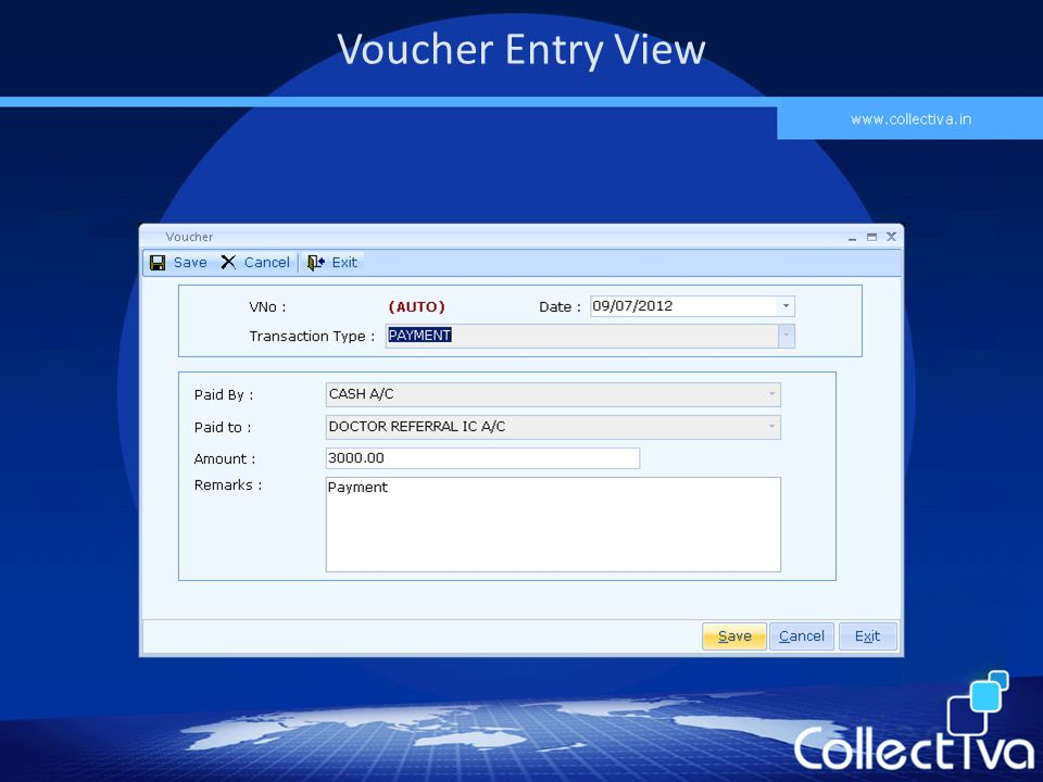 Voucher Entry View