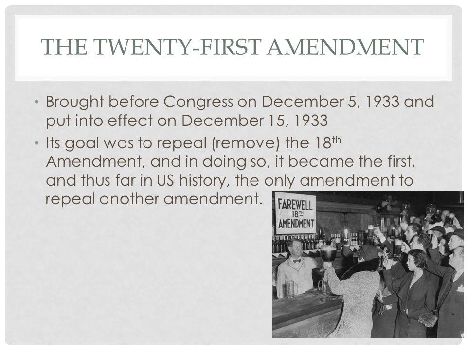 11 The Twenty First Amendment