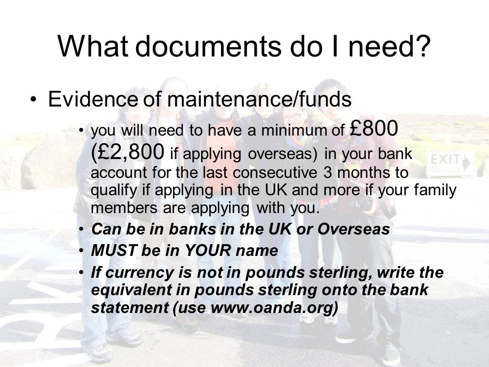What documents do I need.