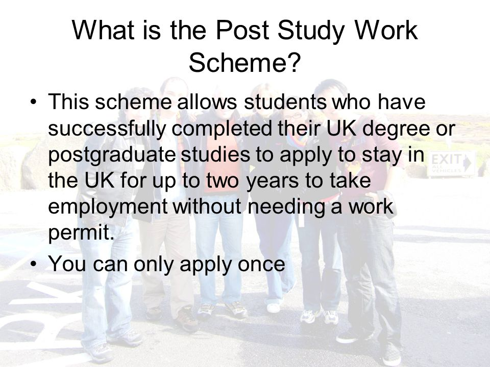 What is the Post Study Work Scheme.