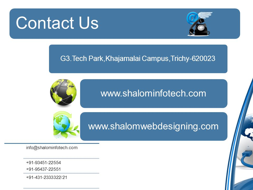 Contact Us G3.Tech Park,Khajamalai Campus,Trichy /21
