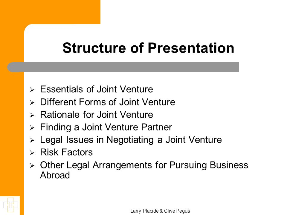 how to negotiate a joint venture