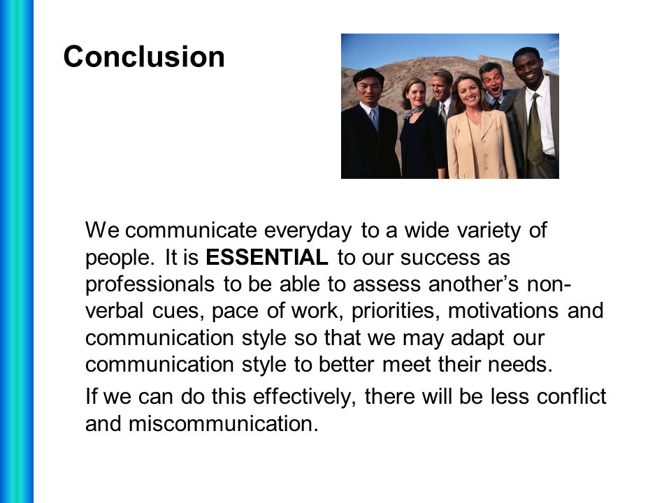 conclusion of verbal and nonverbal communication