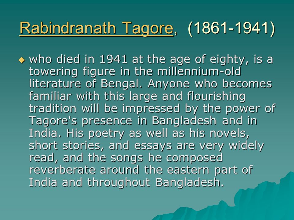 Tagore And His India Rabindranath Tagorerabindranath Tagore   Rabindranath Tagorerabindranath