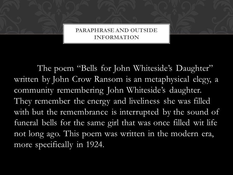 bells for john whitesides daughter