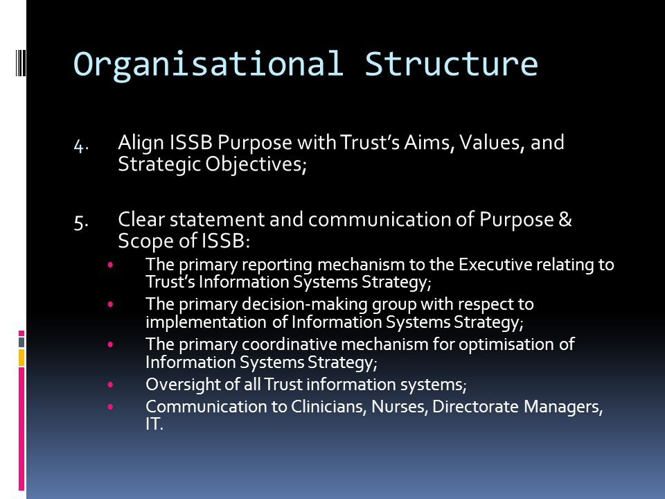 Organisational Structure 4.