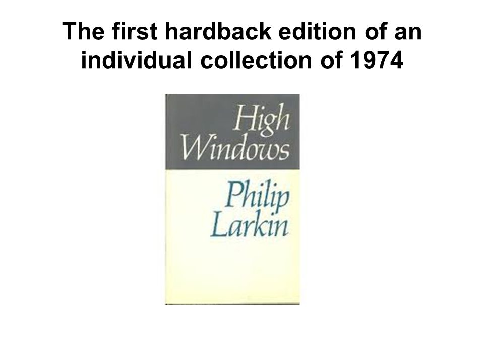 The first hardback edition of an individual collection of 1974