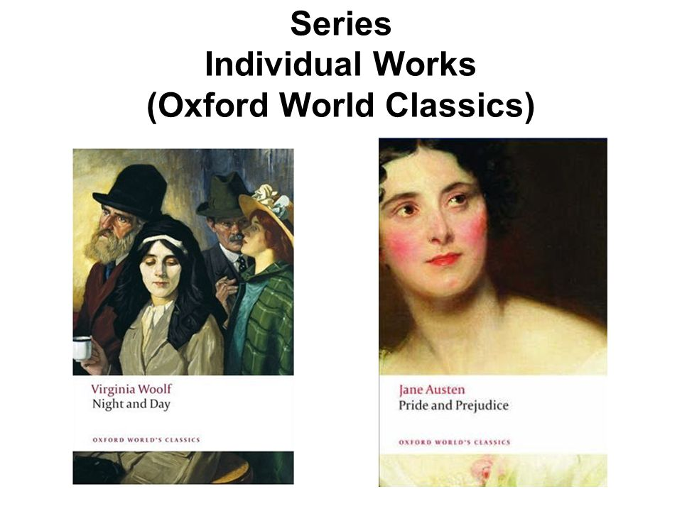 Series Individual Works (Oxford World Classics)
