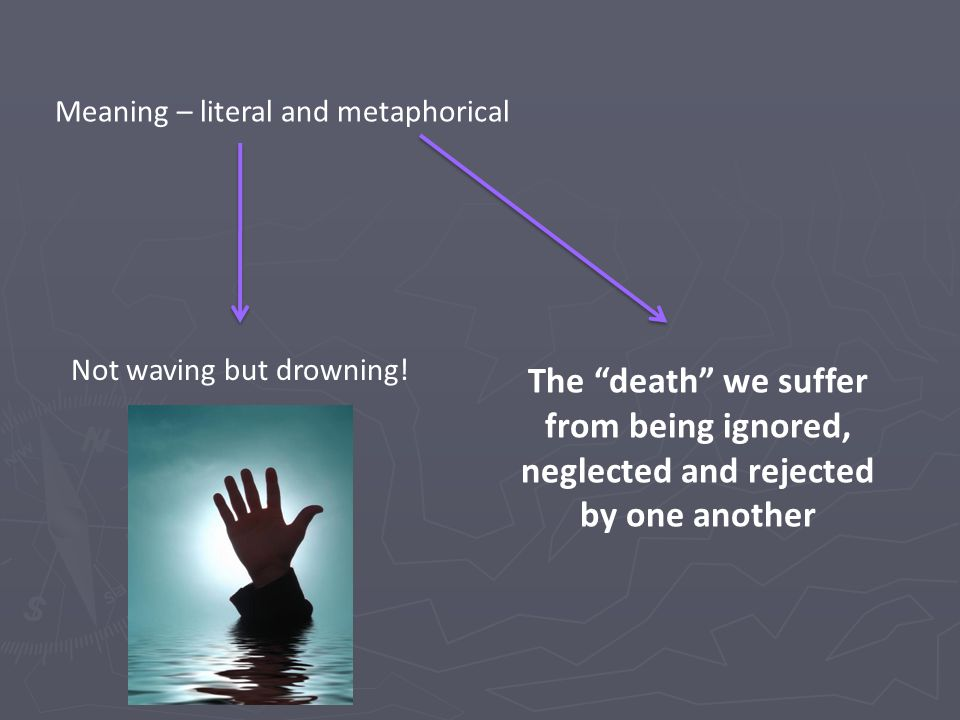 not waving but drowning literary devices