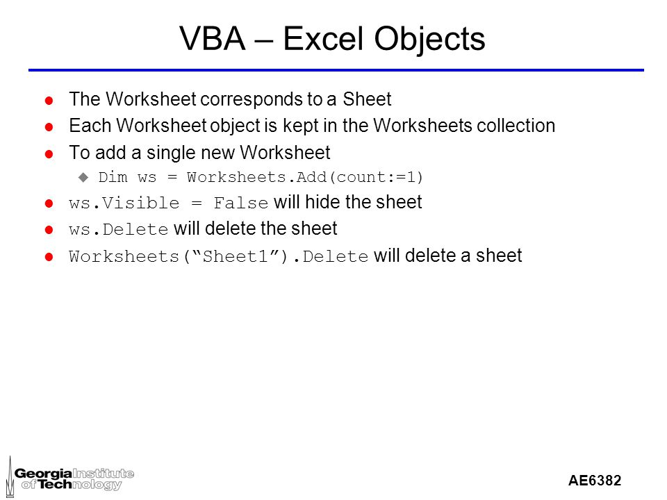 Ae6382 vba excel l vba is visual basic for applications l the goal 33 ae6382 ibookread ePUb