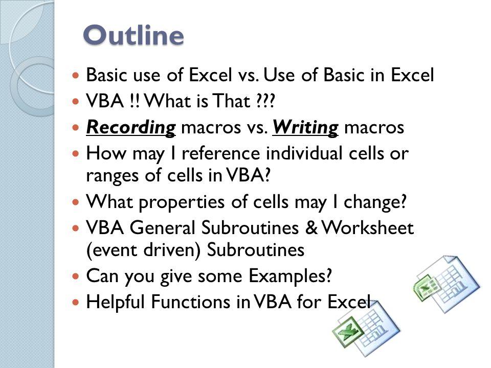 Advanced MS Excel using Visual Basic for Apps (VBA) Wajih Abu-Al