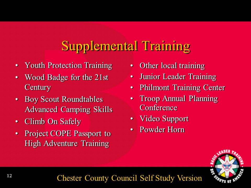 Chester County Council Self Study Version 11 The Uniform Official Activity