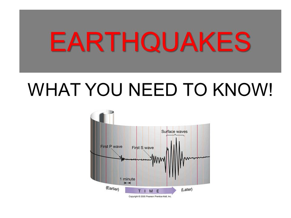 EARTHQUAKES EARTHQUAKES WHAT YOU NEED TO KNOW!
