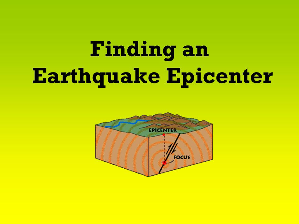 Finding an Earthquake Epicenter