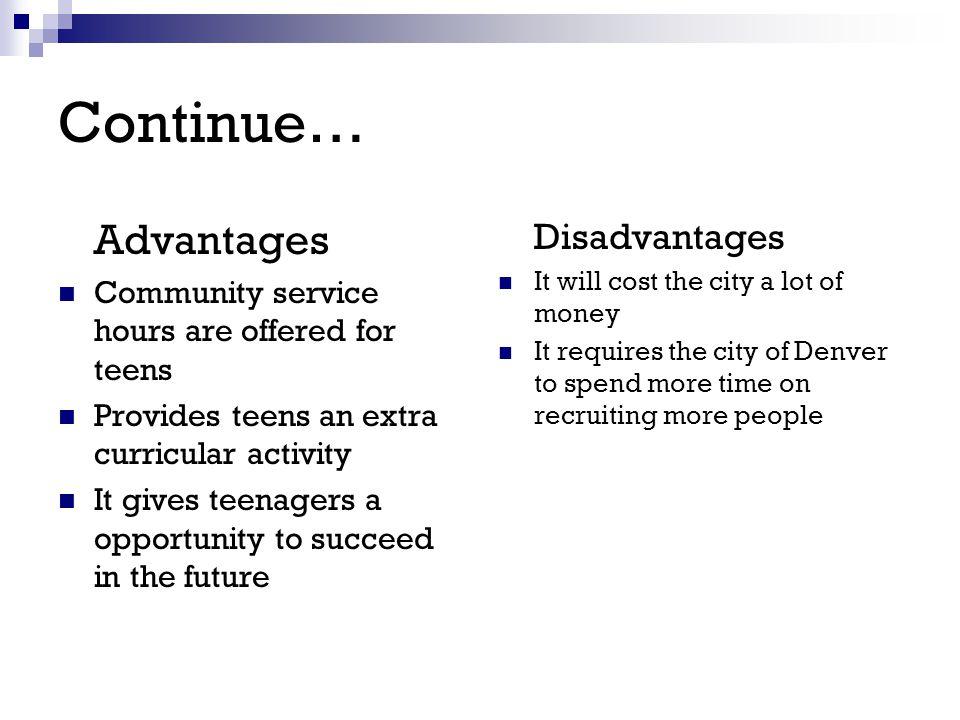 advantages of community service