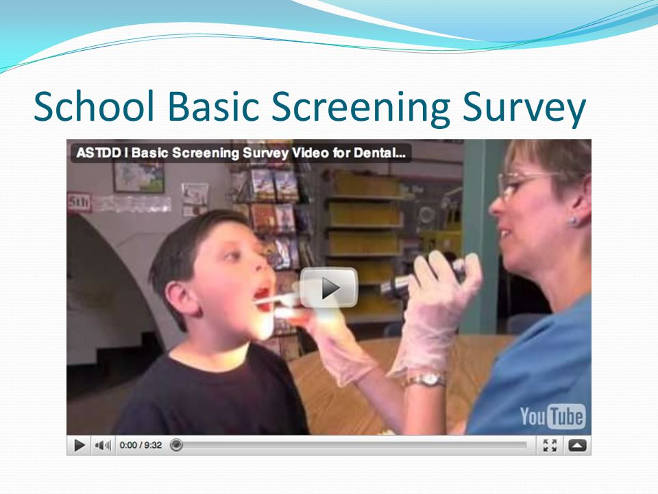 School Basic Screening Survey