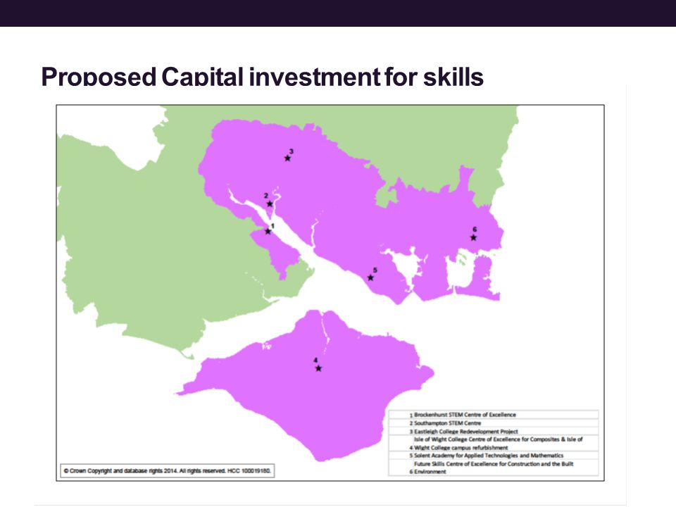 Proposed Capital investment for skills