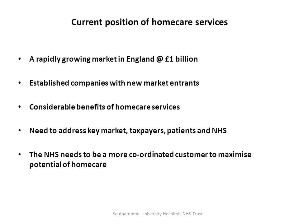 National Picture on Homecare Services Mark Hackett CEO