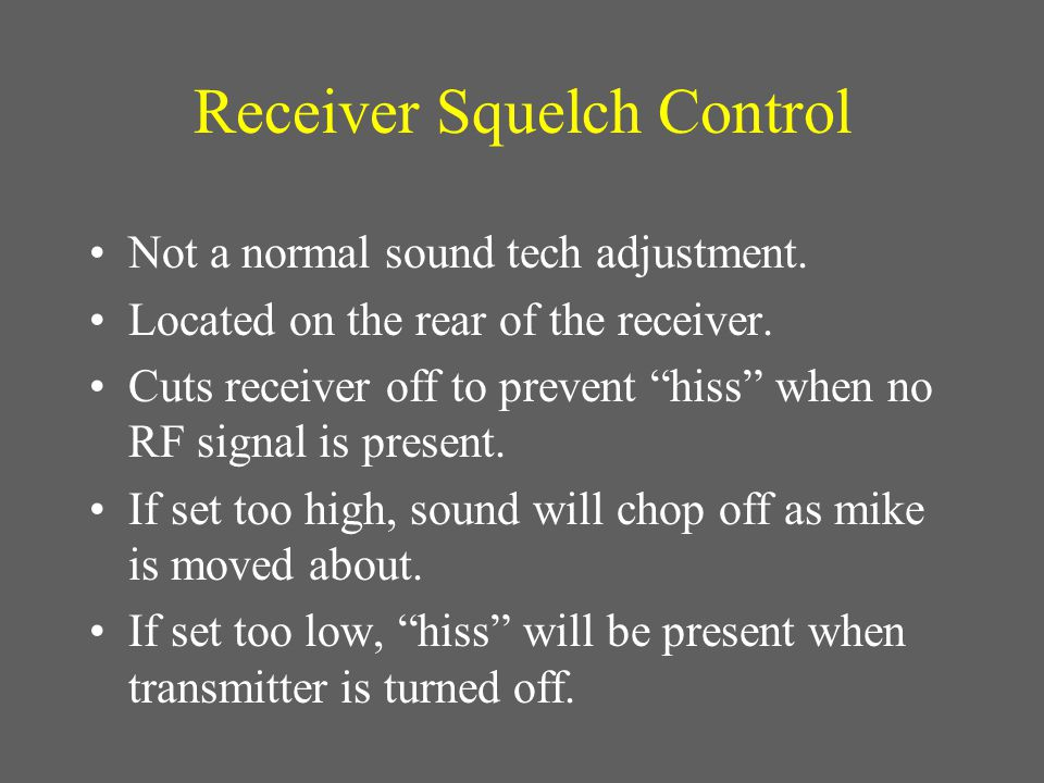 welcome to ebenezer s sound tech training i m sure this thing worked rh slideplayer com