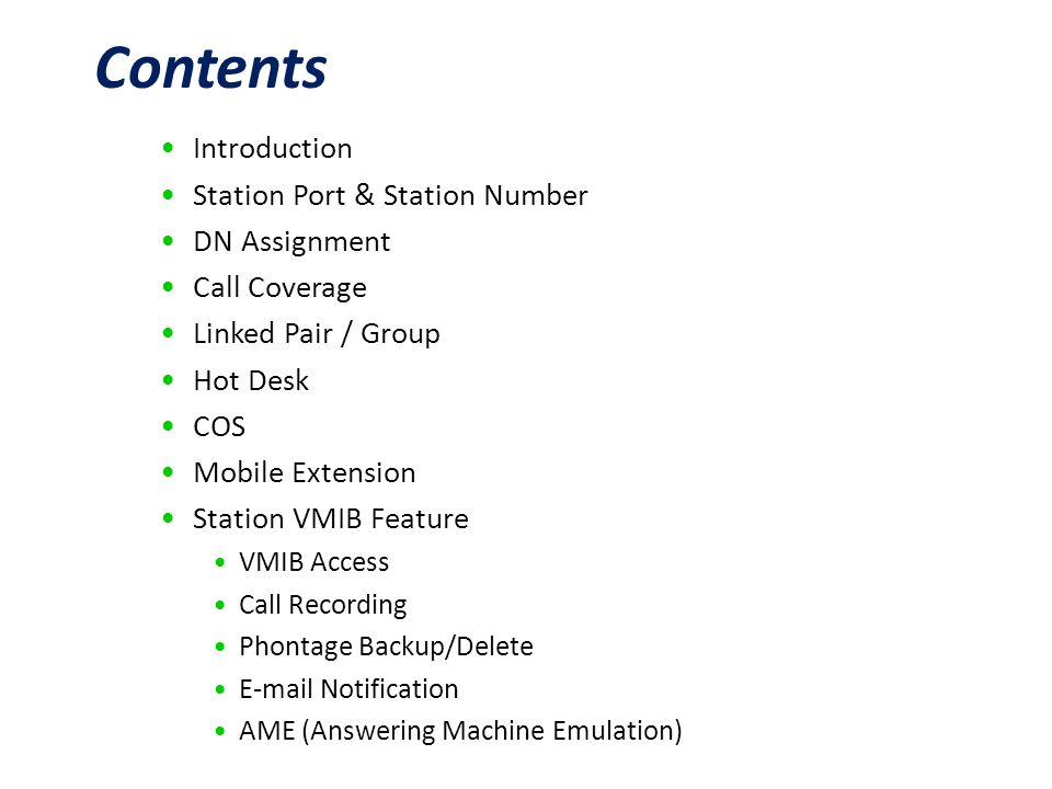 Business Enabled Communications Station Features  - ppt download