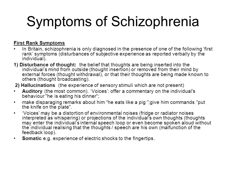 theory of biological causes of schizophrenia Scientists might have found the biological cause of schizophrenia, in a study that has been described as a turning point in tackling mental illness treatments at the moment focus on the effects of schizophrenia — but scientists might now be able to make steps towards tackling the cause of the.