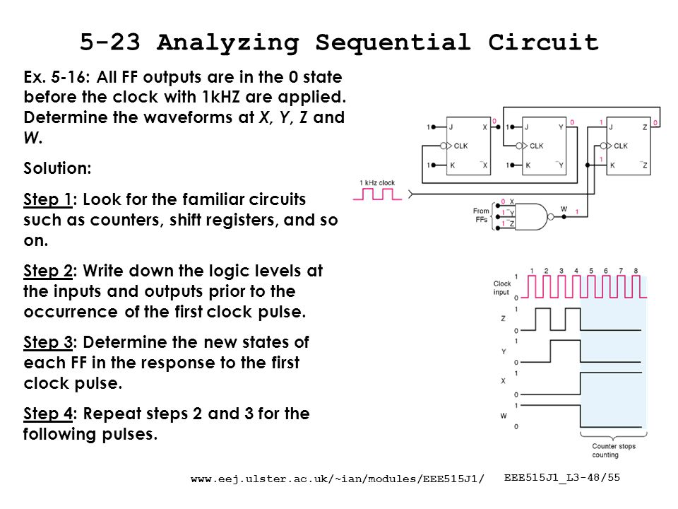 EEE515J1_L3-48/ Analyzing Sequential Circuit Ex.