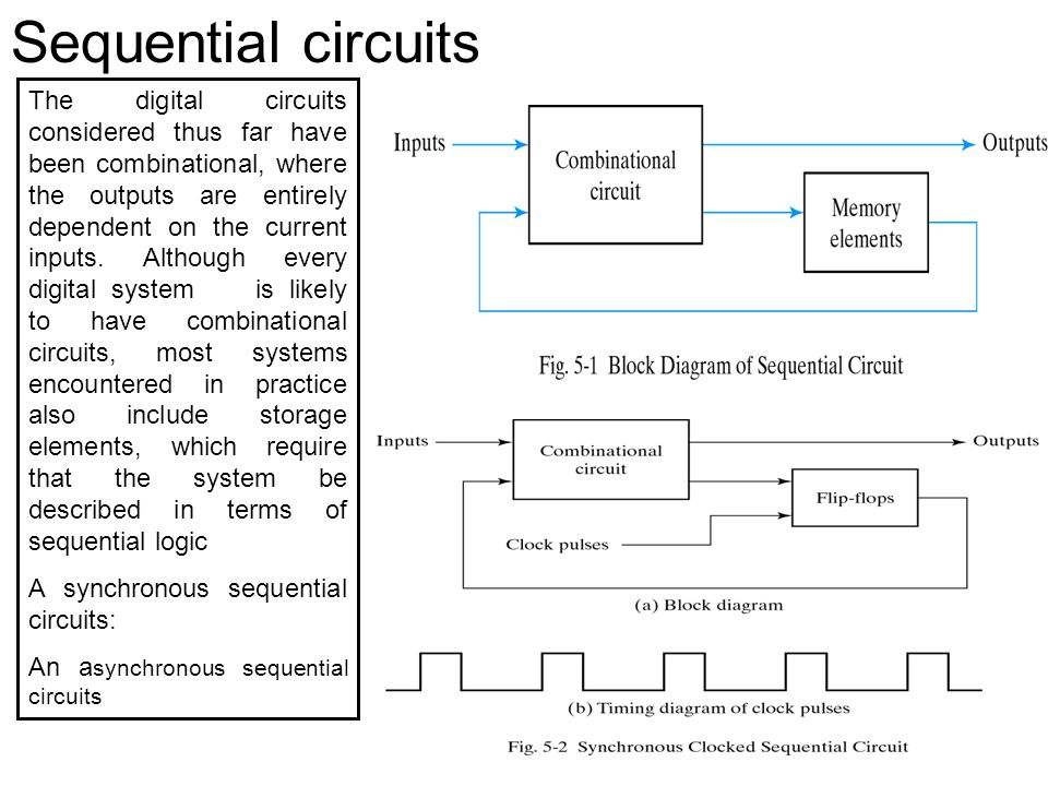 Sequential circuits The digital circuits considered thus far have ...