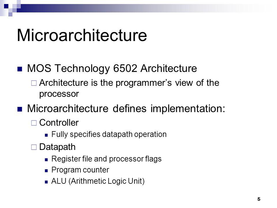 1 The Mudd ][: A 6502 Microprocessor Implementation E158