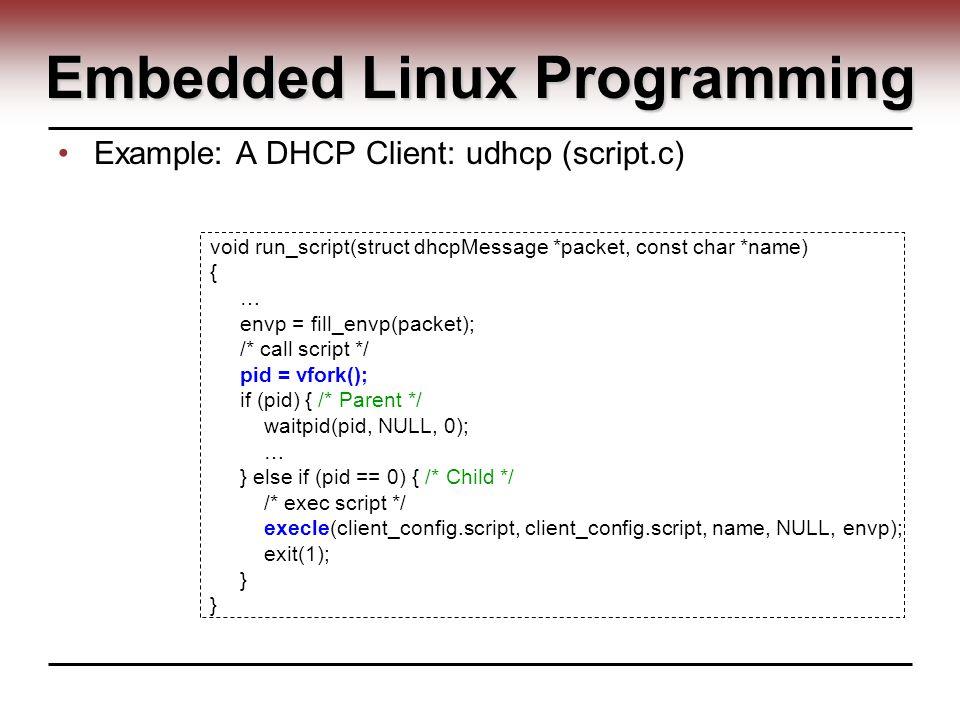 Udhcpc Example