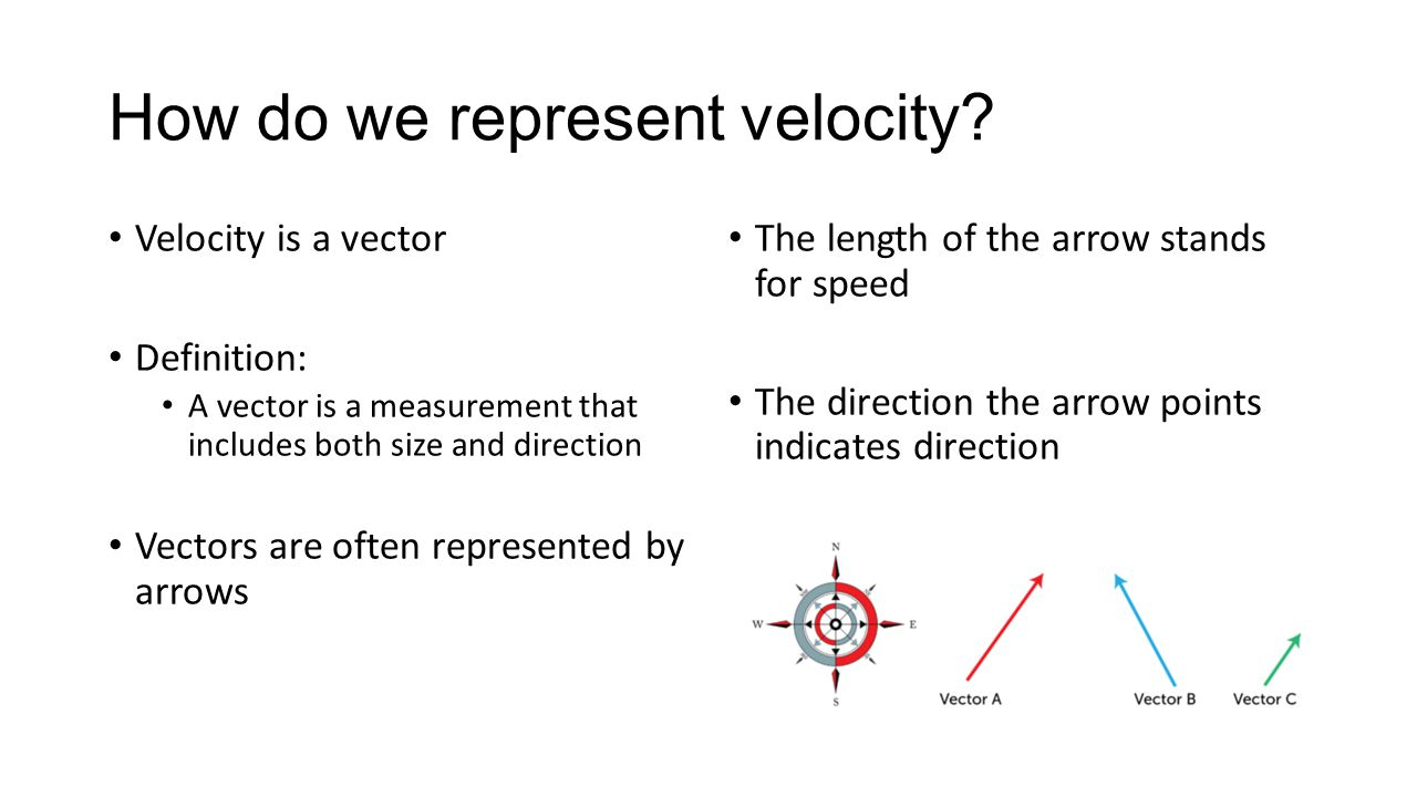 How do we represent velocity.