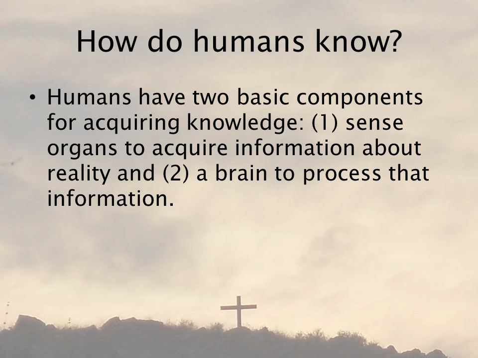 How do humans know.
