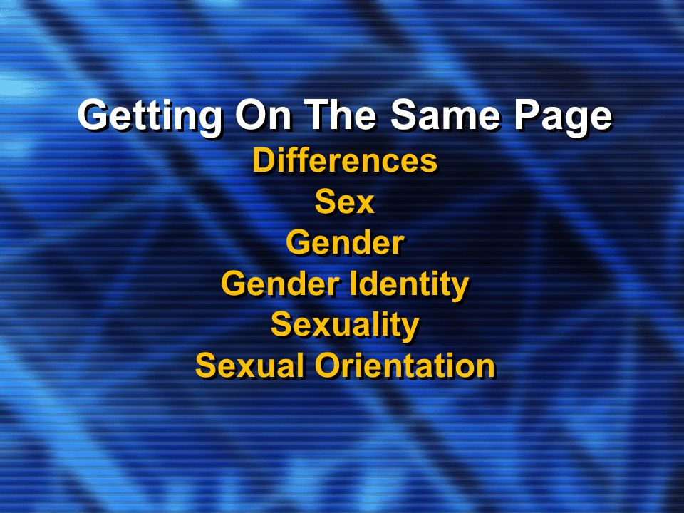 Sexual orientation and gender identity difference