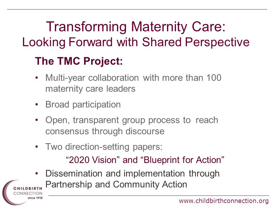 Transforming maternity care 2020 vision for a high quality high 10 childbirthconnection malvernweather Choice Image