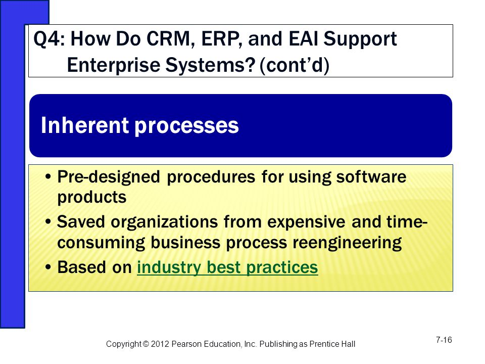 Q4: How Do CRM, ERP, and EAI Support Enterprise Systems.