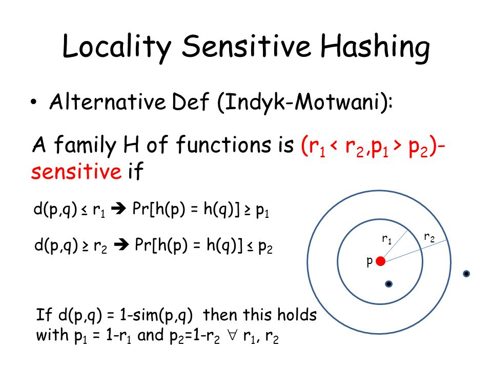 Big Data Lecture 6: Locality Sensitive Hashing (LSH) - ppt download