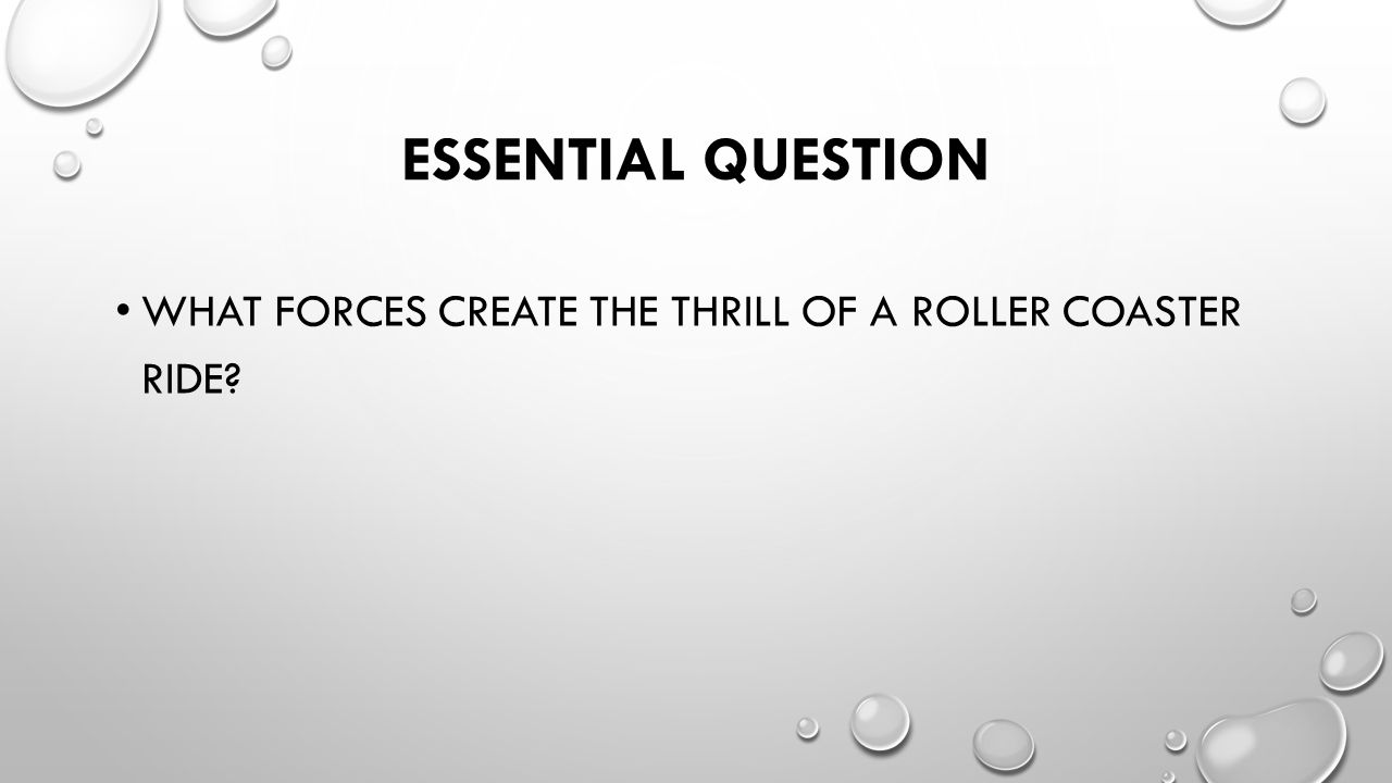Forces On A Roller Coaster Day 5 Essential Question What Rollercoaster Diagram 2