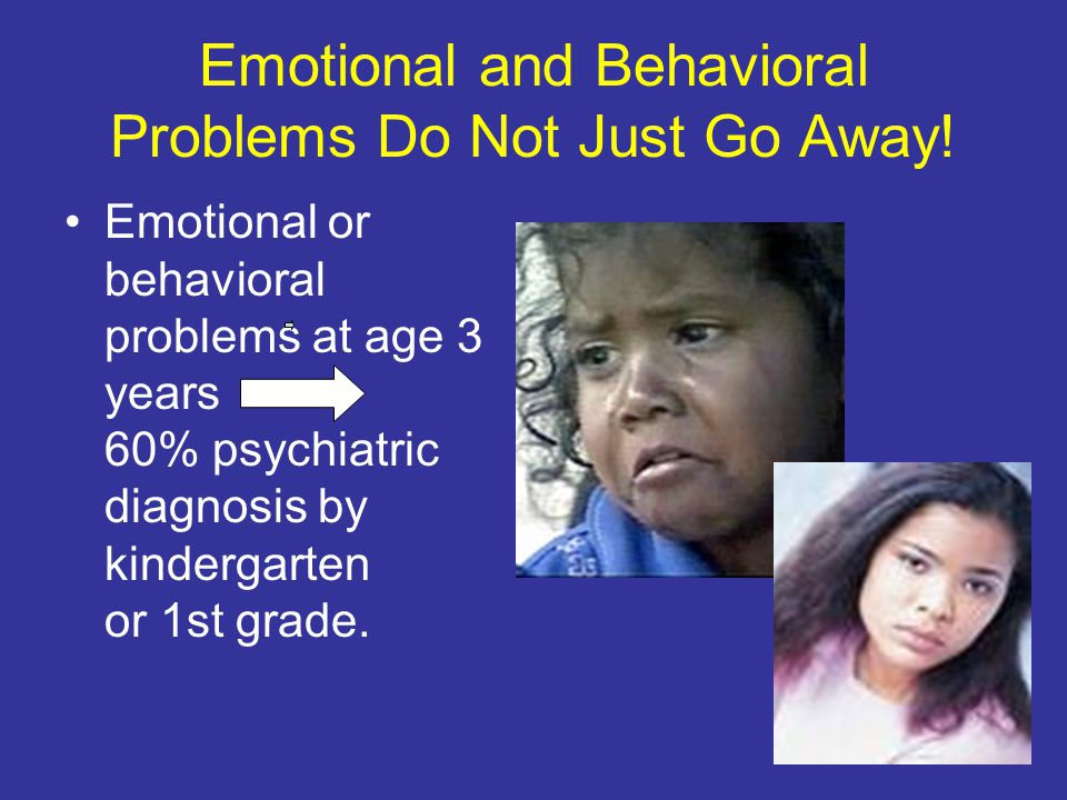 Emotional and Behavioral Problems Do Not Just Go Away.
